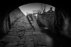 Under the Bridge (andy_AHG) Tags: bridge walking landscape outdoors canal hiking scenic cobbles towpath westyorkshire rambling huddersfield waterways britishcountryside milnsbridge