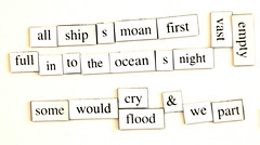 Magnetic Poetry (dailypoetics) Tags: words play random poems magneticpoetry magpo