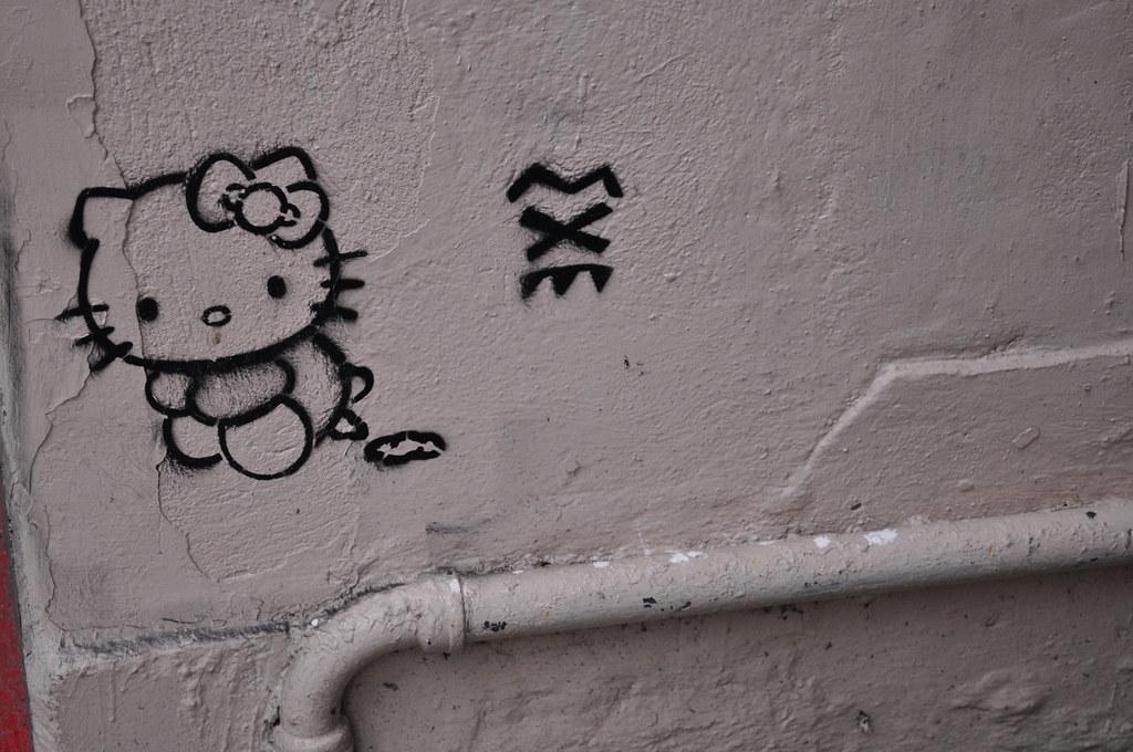 hello kitty wall stencil