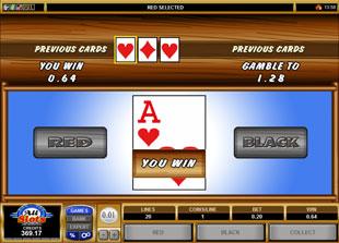 free Cabin Fever gamble bonus game