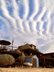 Crazy Clouds (Hueystar) Tags: sky beach clouds bay opossum tasmania