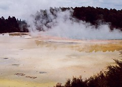 Rotorua New Zealand in 1991 hot thermal sulphur pool