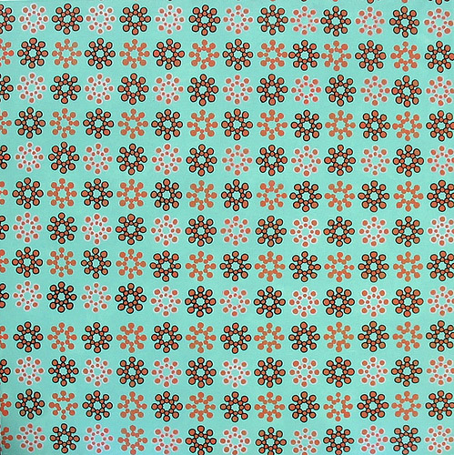 Lime Pattern, Acrylic & Oil on Canvas, 31cm x 31cm by Robin Clare