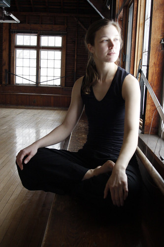 February 16, 2010 - Candice Salyers in the crew house at Smith College where she teaches and practices contemporary dance.