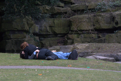 Making out in the park