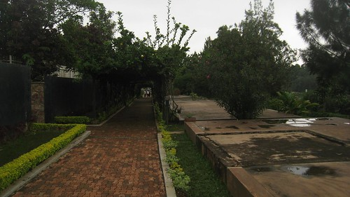 Mass graves on the grounds of the Kigali Memorial Centre