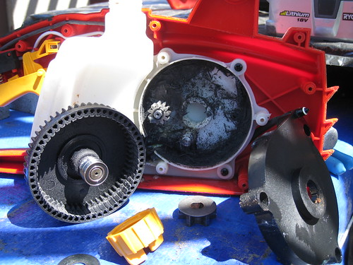 stripped internal gear in cheap electric chainsaw