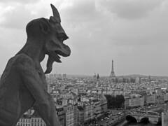 El viga (Mayte.Rs) Tags: notredame toureiffel torreeiffel francia pars grgola