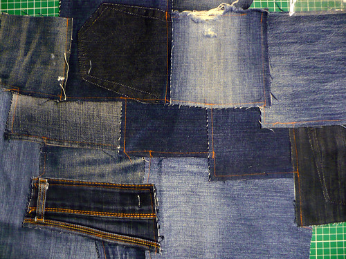 Before the denim went into the machine