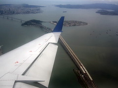 San Francisco Bay () Tags: california ca bridge vacation holiday plane airplane island bay fly inflight treasureisland bur aircraft altitude flight wing jet aerialview aerial baybridge windowview bb yerbabuena newbridge rtw isla ual aereo airliner vacanze avion sfbay ua unitedairlines windowseat kalifornien crj roundtheworld globetrotter airplanewing yerbabuenaisland goatisland areo artificialisland jetwing regionaljet canadairregionaljet newbaybridge woodisland worldtraveler  16d californi ario  insidethecabin seabirdisland  baybridgenewspan regionaljetairliner  unitedairlines6582 flight6582