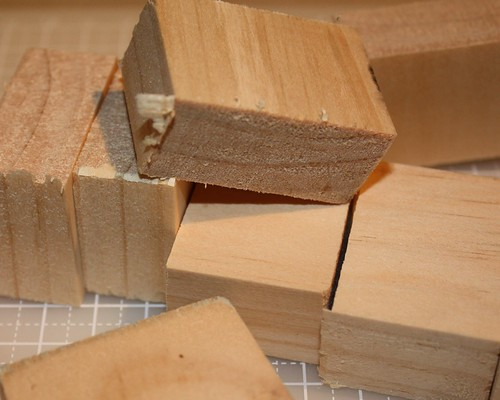 Freshly cut blocks