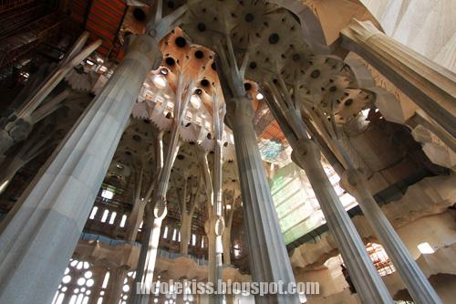 beautiful interior of Sagrada Familia