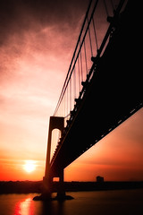 Verrazano Narrows Bridge (Dennis Herzog) Tags: nyc newyorkcity morning bridge ny newyork architecture sunrise harbor bridges harbors verrazanonarrowsbridge verrazanonarrows newyorkharbor mygearandme mygearandmepremium mygearandmebronze