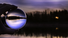 Portal (patkelley3) Tags: sunset crystal ball globe glass blue lake trees water hdr