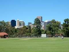 The City From Adelaide Uni Oval (mikecogh) Tags: adelaide parklands oval cbd view university cricket wicket