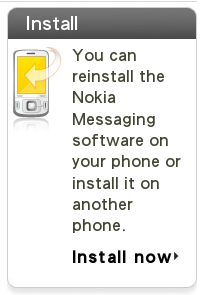 Reinstall Nokia Messaging