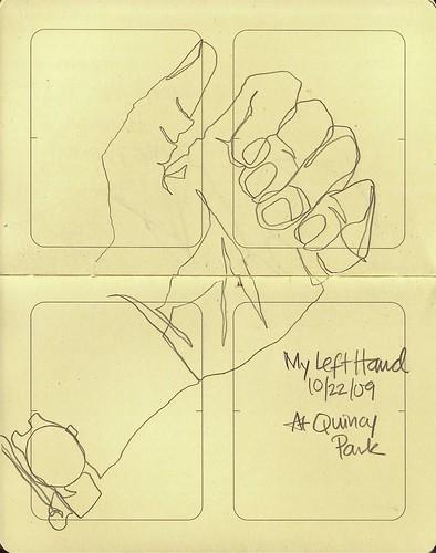 Blind Contour Hand