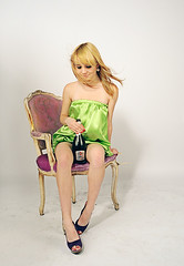 DSC_4363_Tanya (fedor2) Tags: woman sexy girl chair nikon dress young blonde np champaigne d5000