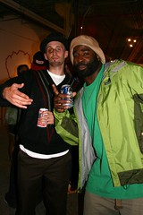 Brian and Thig (fotoflow / Oscar Arriola) Tags: show chicago black eye art brian unusual rapper sharkula thig suspects