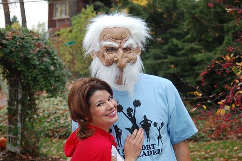 Halloween 2009: Me & my old man.