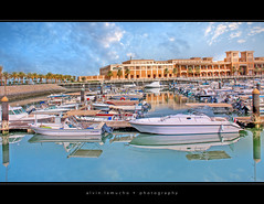 another year older :) (alvin lamucho ©) Tags: birthday blue orange yellow clouds marina reflections mall boats middleeast palm poles kuwait yachts grocery dates 32 hdr natalday souksharq bigday anotheryearolder canon450d rebelxsi alvinlamucho