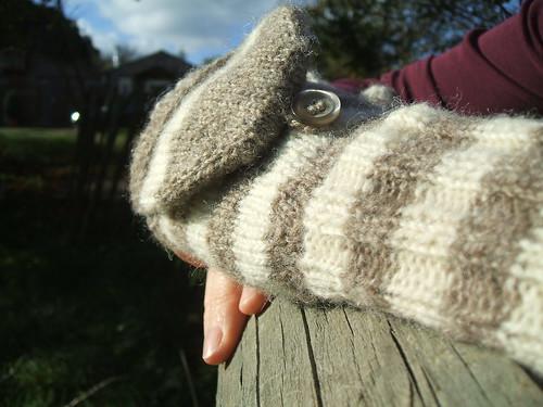Stripey mittens