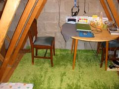 Attic & my new IKEA rug