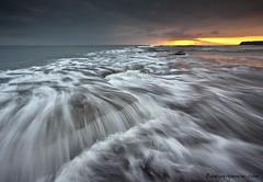 Washing ledge, Kimmeridge (antonyspencer) Tags: uk sunset landscape bay movement ledge dorset jurassic kimmeridge