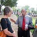Congressman Conyers Interacts with Healthcare Reform Activists at an Event on the National Mall