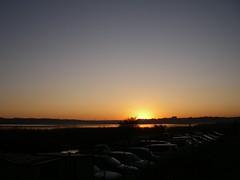 夜明け直前の印旛沼