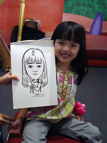 Caricature live sketching for Marina Square X'mas Tenants Gathering 2009 - 6