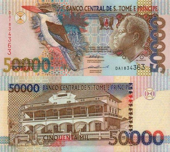 50 000 Dobras Svätý Tomáš a Princov ostrov 1996-2006
