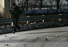 Crumbling highway (johnhanleyphoto) Tags: toronto police gardiner expressway