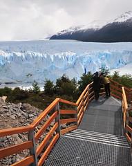 Observing a Glacier (Robert H Chapman) Tags: cloud patagonia mountain snow ice argentina steps platform glacier capped viewing perito moreno d700 1424mm
