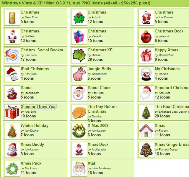 Christmas Icons (547 icons) at IconArchive