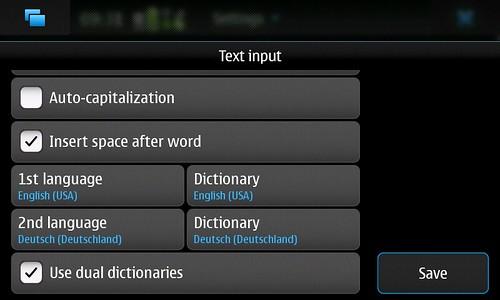 Maemo text input