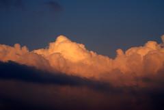Clouds /  (qatari star) Tags: blue sky orange clouds wow gulf cloudy hamad doha       qatari  marri     baadal goldstaraward