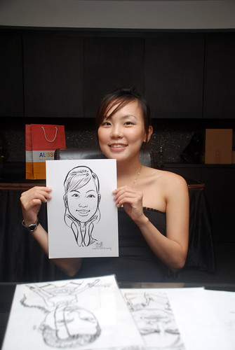 Caricature live sketching for Johnson & Johnson - 17
