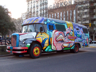 Painted Hippie Bus