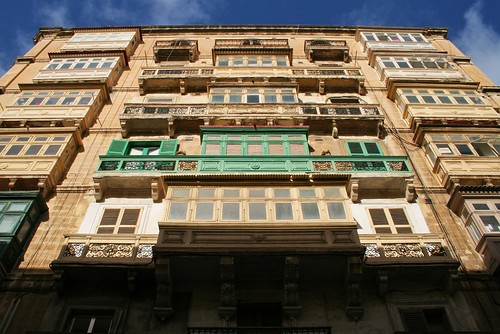 Balconies in Valletta