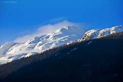 (Emil Akperov) Tags: trip travel blue winter vacation sky white mountain snow canada nature beautiful clouds landscape whistler nikon britishcolumbia olympic olympicvillage d60 westerncanada sigma18200mm