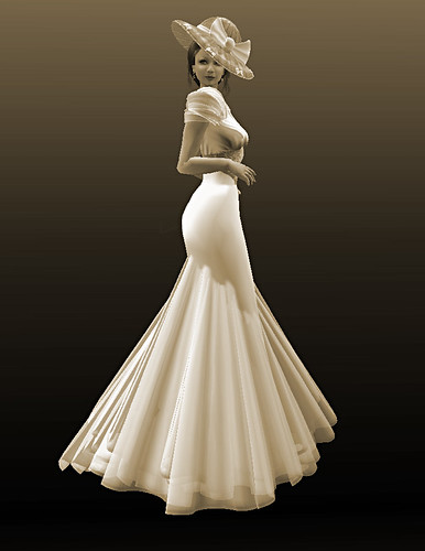 Ginger Gown - Antik White