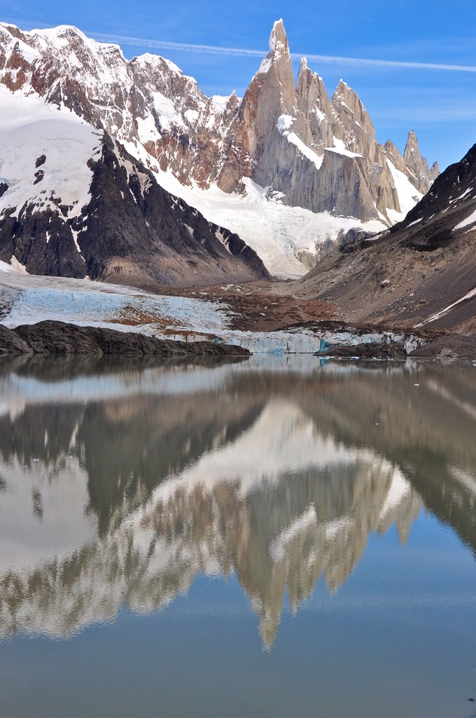 Cerro Torre Looms Over Glaciar Grande