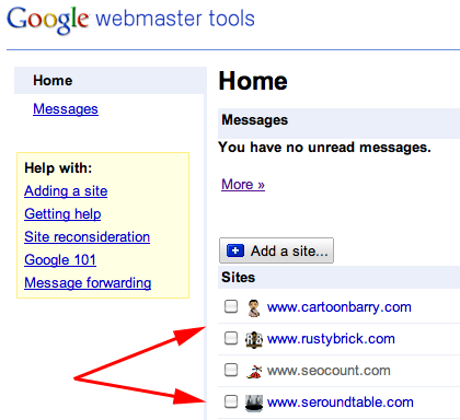 Favicons in Google Webmaster Tools