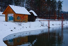 Winter (Sareni) Tags: trees winter sky snow reflection tree water colors forest reflections pond nikon branches si january slovenia slovenija zima mb maribor voda 2010 twop sneg d60 pohorje nikond60 sareni