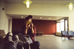 disposable. (jla ) Tags: camera old red orange art colors festival iceland airport looking chairs good stripes part converse jana grainy eastern disposable lunga egilsstair seyisfjrur