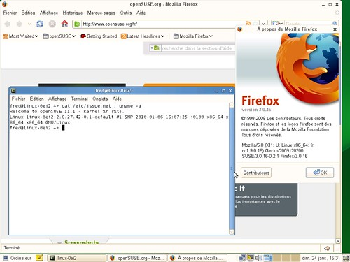 Firefox 3.0 - OpenSuSE 11.1 à jour