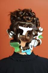 . (Ansel Olson) Tags: red wall hair virginia clips curls richmond va salon 2010 curlers carytown updoday cecostudio