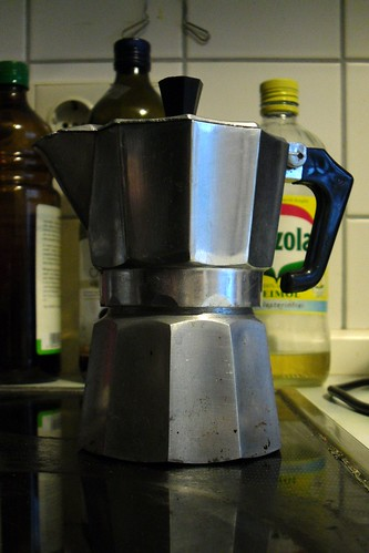Portrait of the famous coffee maker