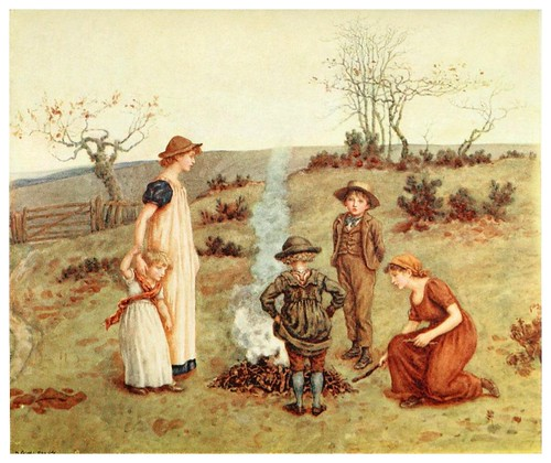 028- La hoguera-Kate Greenaway 1905- Marion Spielmann y George Layard